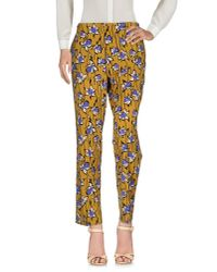 Miu Miu - Yellow Casual Trouser - Lyst