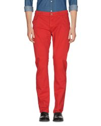 Bikkembergs - Red Casual Pants for Men - Lyst