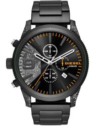DIESEL - Black Wrist Watch for Men - Lyst