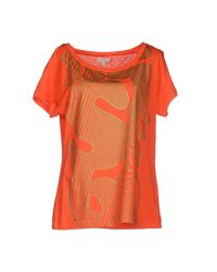 Miss Sixty | Orange T-shirt | Lyst
