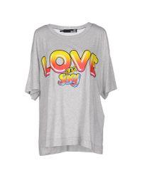 Love Moschino | Gray T-shirt | Lyst