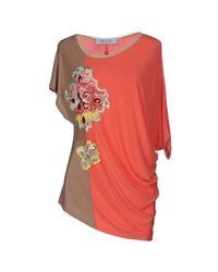 22 Maggio By Maria Grazia Severi - Pink T-shirt - Lyst
