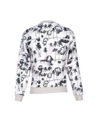 Opening Ceremony - White Crewneck Palm-print Sweatshirt for Men - Lyst