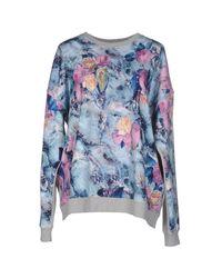 MSGM - Blue Sweatshirt - Lyst