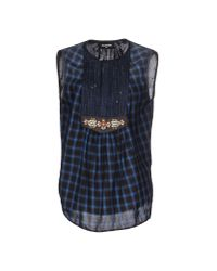 DSquared² | Blue Top | Lyst