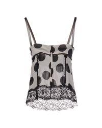Dolce & Gabbana - Gray Printed Silk Top - Lyst