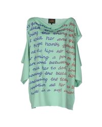 Vivienne Westwood Anglomania - Green T-shirt - Lyst