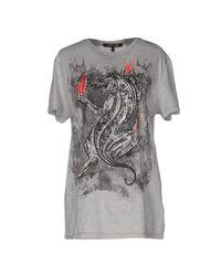 Roberto Cavalli - Gray T-shirt - Lyst