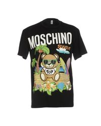Moschino - Black T-shirt for Men - Lyst