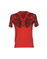 Just Cavalli - Red T-shirt for Men - Lyst