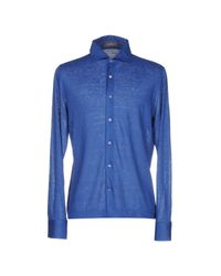 Cruciani - Blue Shirt for Men - Lyst