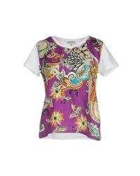 Etro - Purple T-shirt - Lyst