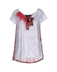 Twin Set | White T-shirt | Lyst