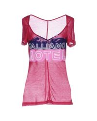 John Galliano | Pink T-shirt | Lyst
