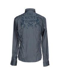 CoSTUME NATIONAL - Gray Shirt for Men - Lyst