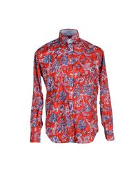 Brooksfield | Red Shirt for Men | Lyst