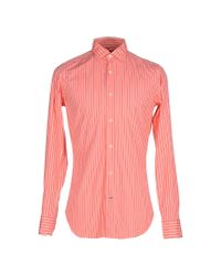 Truzzi | Pink Shirt for Men | Lyst