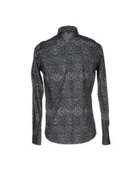 Just Cavalli - Gray Shirt for Men - Lyst