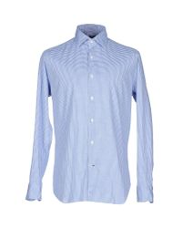 Truzzi - Blue Shirt for Men - Lyst