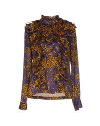See By Chloé | Purple Cotton and Silk-blend Shirt | Lyst