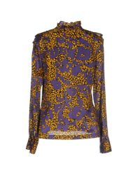 See By Chloé   Purple Cotton and Silk-blend Shirt   Lyst