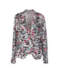 Balenciaga   Black Raffia-Effect Jacquard Jacket   Lyst