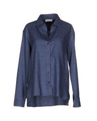 Aglini   Blue Shirt   Lyst