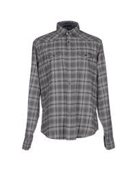 Gas | Gray Shirt for Men | Lyst