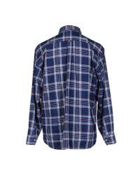 Barbour - Barbour Track Brushed Check Shirt, Denim Blue for Men - Lyst