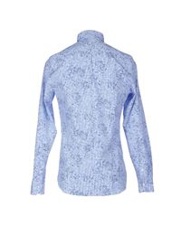 AT.P.CO - Blue Shirt for Men - Lyst