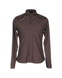 Exibit - Brown Shirt for Men - Lyst
