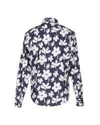 Marni - Blue Long Sleeve Shirt for Men - Lyst