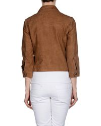 Stefanel - Brown Jacket - Lyst