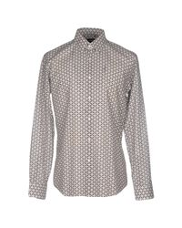 Fendi - Gray Shirt for Men - Lyst