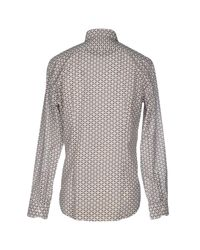 Fendi - Gray Shirt for Men - Lyst