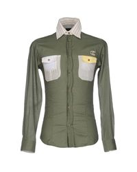 Just Cavalli   Green Shirt for Men   Lyst