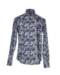 Billionaire - Blue Shirt for Men - Lyst