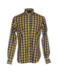 Mp Massimo Piombo | Yellow Shirt for Men | Lyst