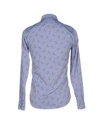 Berna - Blue Shirt for Men - Lyst