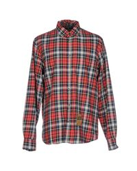 Scotch & Soda | Red Long Sleeve Shirt for Men | Lyst