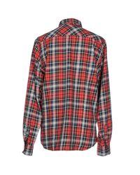 Scotch & Soda - Red Long Sleeve Shirt for Men - Lyst