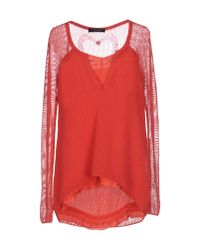 Twin Set   Red Sweater   Lyst