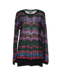 M Missoni | Multicolor Ribbed Wool-blend Turtleneck Sweater | Lyst