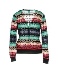 M Missoni - Green Cardigan - Lyst
