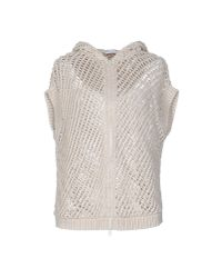 Brunello Cucinelli - Natural Cardigan - Lyst