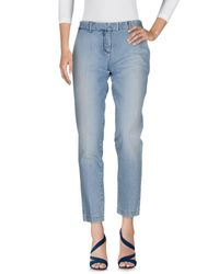 Frankie Morello - Blue Denim Trousers - Lyst