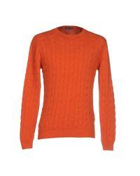Scaglione - Orange Sweater for Men - Lyst