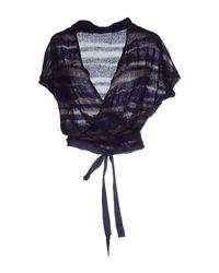 GAUDI | Purple Wrap Cardigans | Lyst