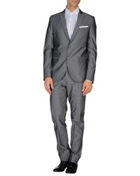 Grey Daniele Alessandrini - Gray Suit for Men - Lyst