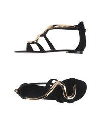 Giuseppe Zanotti - Black Sandals - Lyst